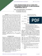 Iaetsd-Asynchronous Data Transactions on Soc Using Fifo