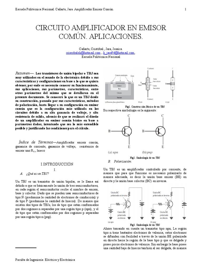 Circuito Quemagrasas : Emisor comun ieee