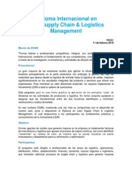 Folleto_Diploma Int. en Lean Supply Chain & Logistics Management 2015