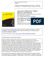 The Politics of Electoral Reform The State of Research