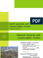 8-6 Earth Systems and Catastrophic Events Student Version