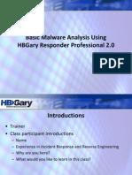 Malware-Analysis With HBgary Respender Profesional