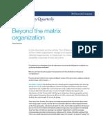 Beyond the Organisation Matrix