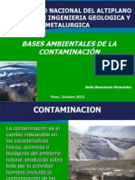 Bases de La Contaminación Ambiental