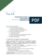 Tema 14. Introducci¢n a la gestion del proyecto