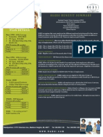 2014 - 2015 Benefit Summary
