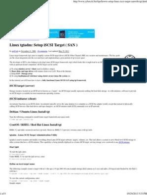 Linux Tgtadm_ Setup ISCSI Target ( SAN )   Computer