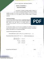 Kuhn Tucker Conditions- Optimisation