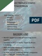 Delta Electronics Hybrid Powertrain