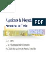 Algoritmos de Busqueda Secuencial de Texto