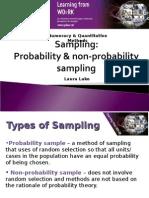 3 Sampling Probability Non Probability