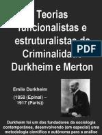Funcionalismo e Estruturalismo