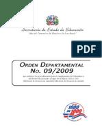 Orde Departamental 09-2009.Pdf0