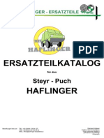 Original Steyr Puch Haflinger Ersatzteilkatalog v2013