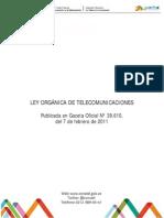 Ley Orgánica de Telecomunicaciones LOTEL