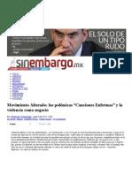 """Movimiento Alterado_ Las Polémicas """"Canciones Enfermas"""" y La Violencia Como Negocio _ Sin Embargo"""