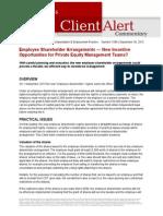 LW UK Employee Shareholder Agreement Issues