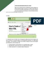 Como Hacer Una Pagina Web en HTML en 11 Pasos