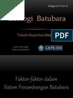 Batubara - Minggu 11 & 12 - Metode Penambangan Batubara (Dina Geo)