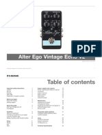 Tc Electronic Alter Ego Vintage Echo v2 Manual English