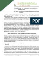 Variabilidade Espacial de Fe, Mn, Na e Da Produtividade Em Uma Lavoura De