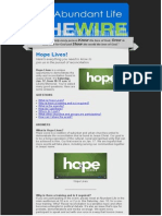 Hope Lives Faq 011715