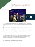 India on Brink of Quantum Leap, Modi Tells Investors