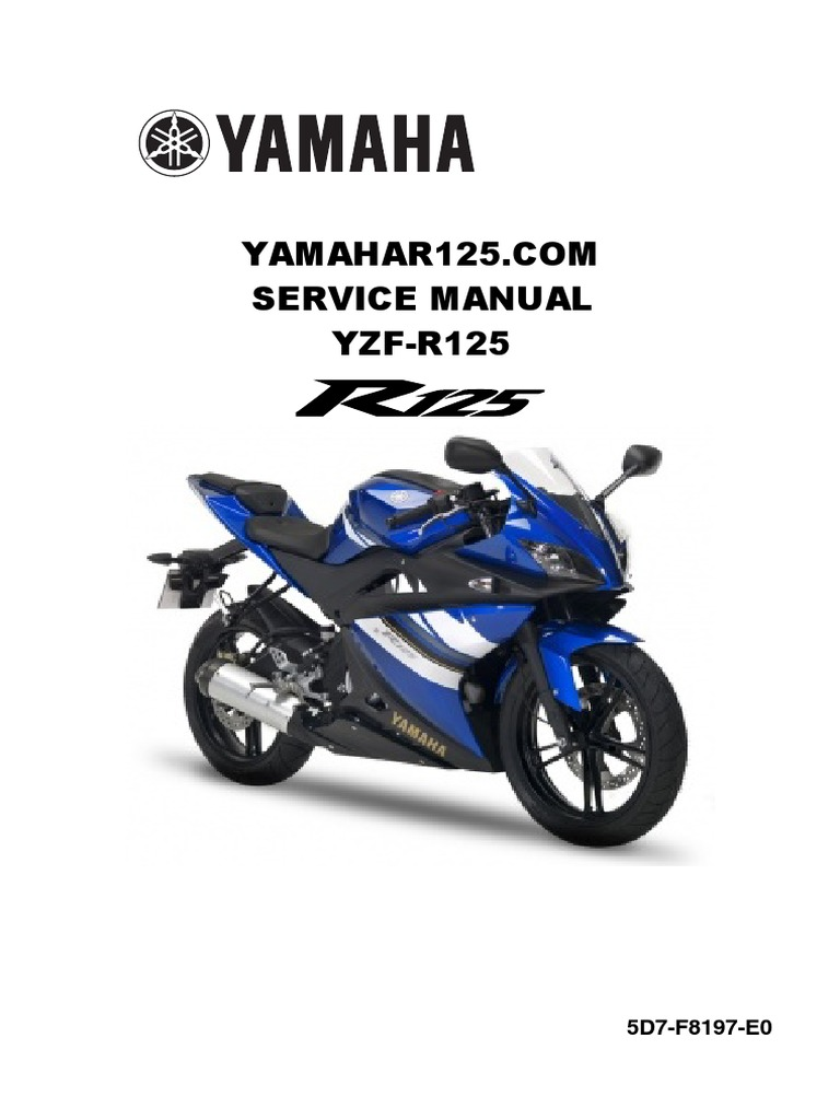 Schema Elettrico Yamaha R : Yamaha yzf r125 service manual 1 fuel injection carburetor