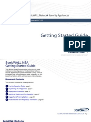 SonicWALL NSA 5000 4500 3500 Getting Started Guide | Ip