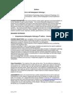 pathology syllabus 2015