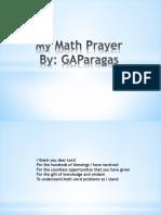 My Math Prayer
