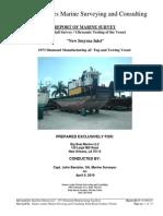 M/V New Smyrna Inlet (Sample Ultrasonic Hull Survey)