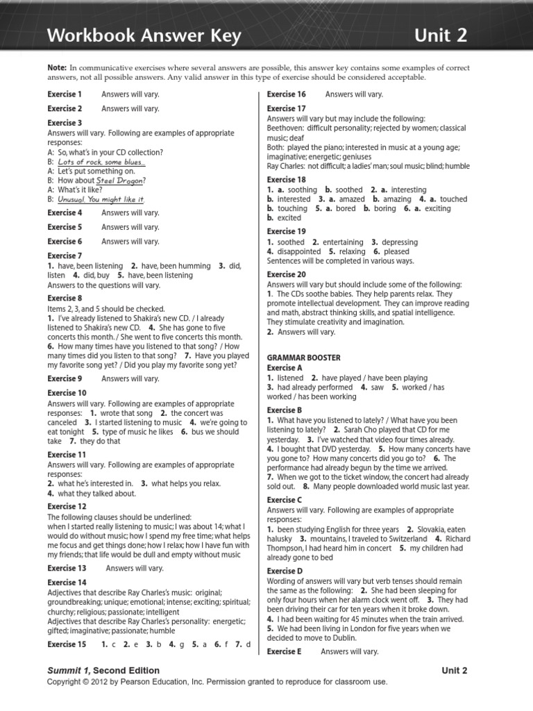 Summit 1 Unit 2.pdf   Leisure   Entertainment (General)