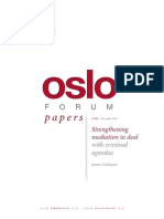 Oslo Forum Papers - Strengthening Mediation to Deal With Criminal Agendas - November 2013