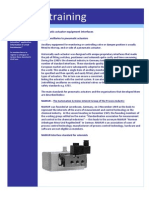 Controls E-training - Pneumatic Actuator Equipment Interfaces