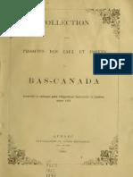 Collection des produits des eaux et forets du Bas-Canada