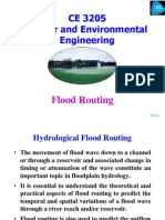 CE 3205 Lecture W5.1 Flood Routing