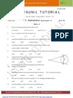 10 Math Sample Paper 2011 10