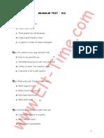 TOEFL Grammar Test12