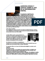 Aspectos Éticos y Legales Sobre El Uso de La Información Digitaimpresionesç