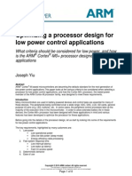 Optimizing a Processor Design for Low Power Control Applications