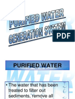 Purified Water Generetion System Operation1