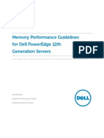 Memory Performance Guidelines for Dell PowerEdge 12th