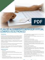 Plan de alojamiento servidor virtual comercio electronico