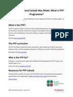 Raha International School Abu Dhabi. What is PYP Programme?