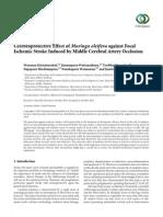 Cerebroprotective Effect of Moringa Oleifera Against Focal
