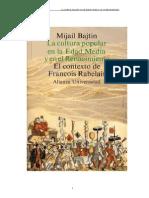 Bajtin,Mijail - La cultura popular en la Edad Media y el Renacimiento.doc