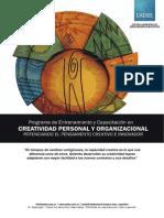 Programa - Curso de Creatividad Personal y Organizacional