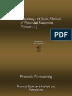 Percentage of Sales Method