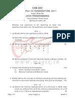 Java exam paper 2011
